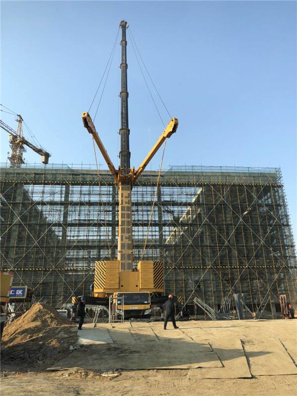 连云港650吨吊车加副臂吊装施工案列