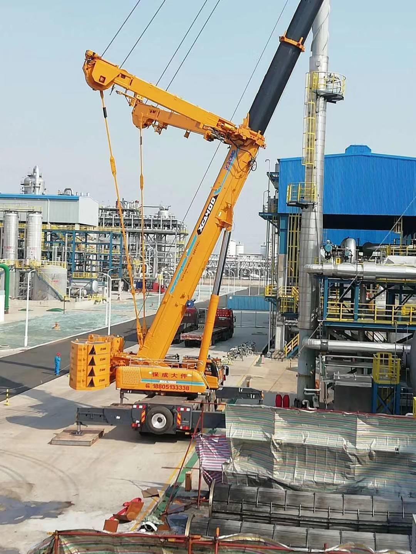 连云港700吨吊车化工园区施工案列