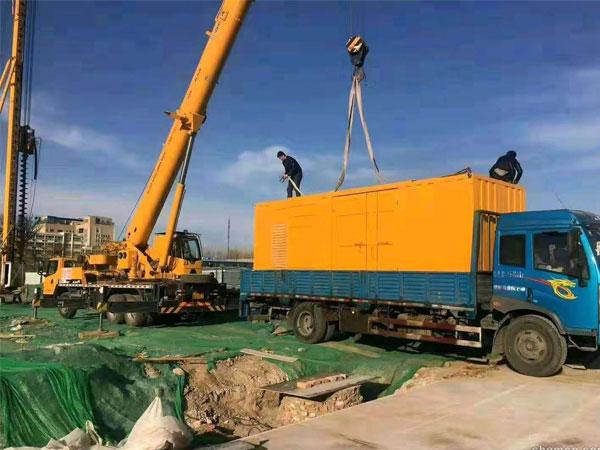 淮安万科工程建设租赁一台大型静音发电