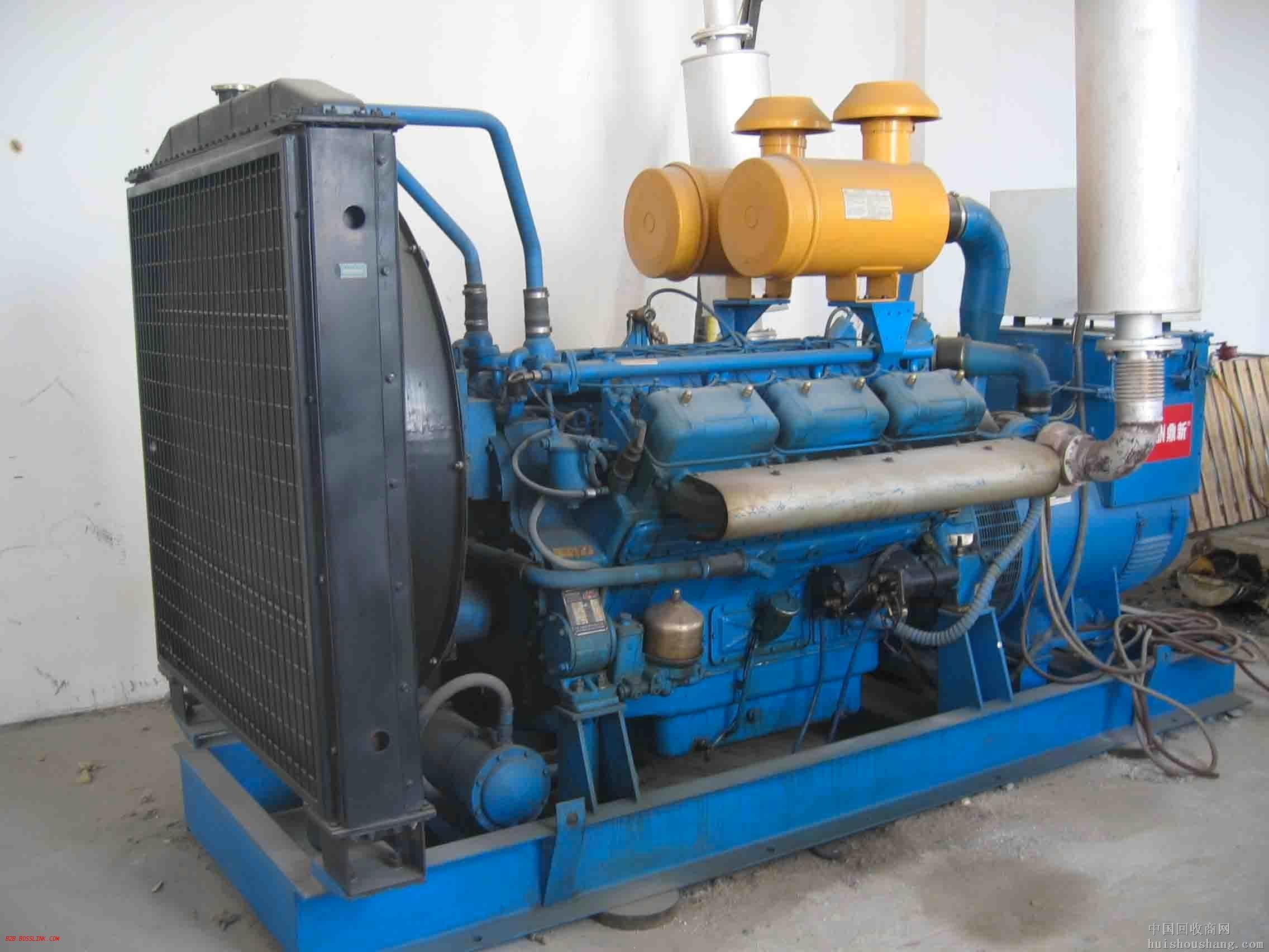 上海蓝色二手发电机出售